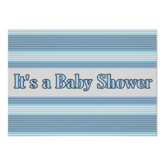 Personalised Baby shower invitations blue stripes