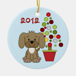 Personalised Baby's 1st Christmas Dog Ornament