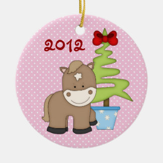 Personalised Baby's 1st Christmas Horse Ornament