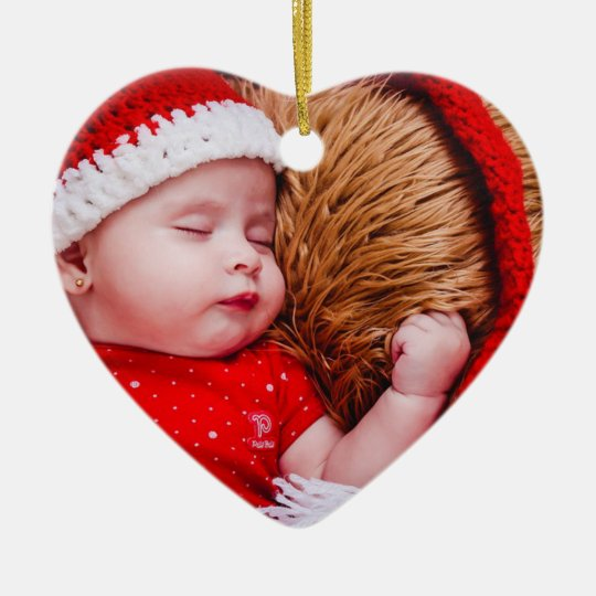 Personalised Baby's First Christmas Heart Ornament
