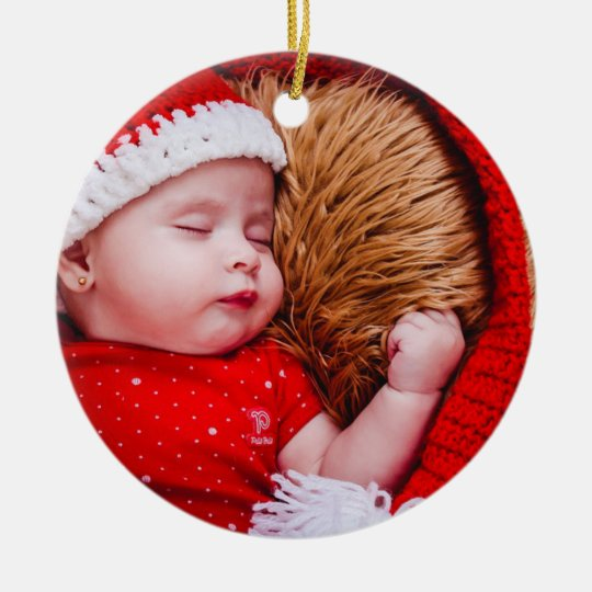 Personalised Baby's First Christmas Round Ornament