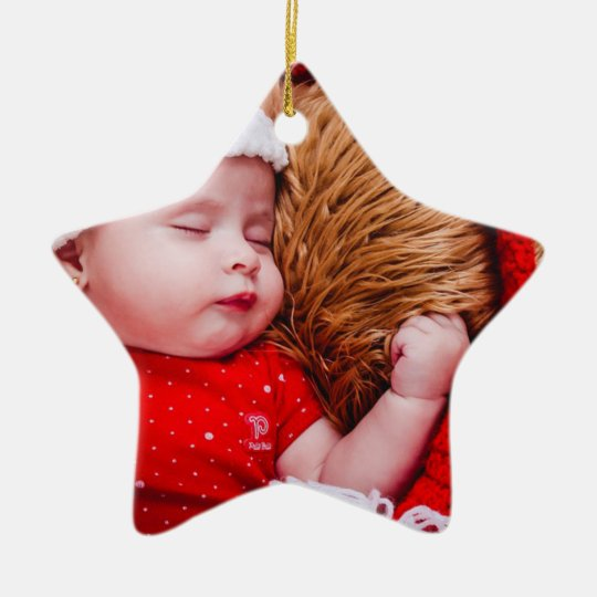 Personalised Baby's First Christmas Star Ornament