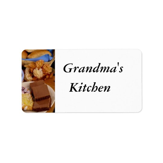 Personalised Bakery Labels