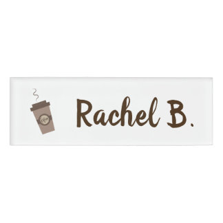 Personalised Barista Cafe Coffee Shop Name Tag
