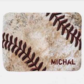Personalised Baseball Baby Blanket Baby's NAME