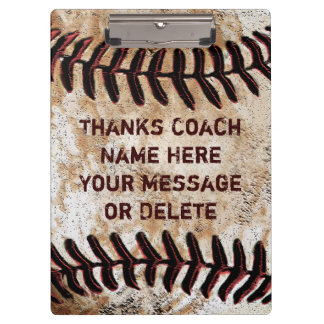 Personalised Baseball Coach Clipboard Cool Vintage