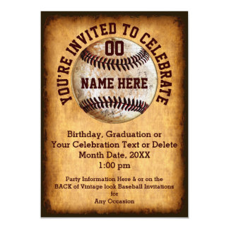 Personalised Baseball Invitation for Any Occasion