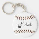 Personalised Baseball Keychain