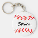 Personalised baseball keychain with custom name