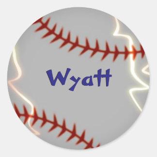 Personalised baseball stickers