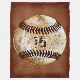 Personalised Baseball Throw Blanket, Your Number