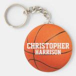 Personalised Basketball Keychain Basic Round Button Key Ring