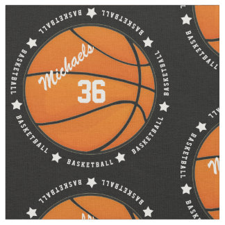 Personalised Basketball Number Name Fabric