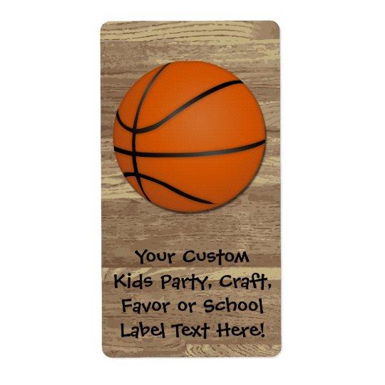 Personalised Basketball Wood Floor