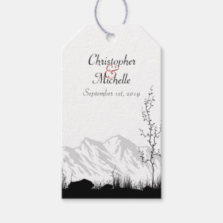 Personalised Beautiful Silhouette Mountain Wedding