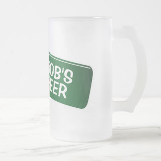 Personalised beer mug with funny bottle design