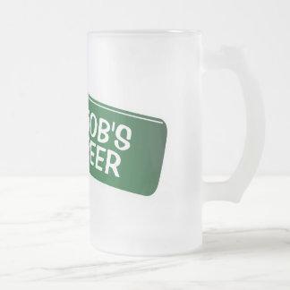 Personalised beer mug with funny bottle design