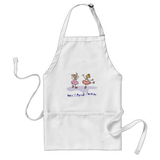PERSONALISED BEST FRIENDS FOREVER DANCING GIRLS STANDARD APRON