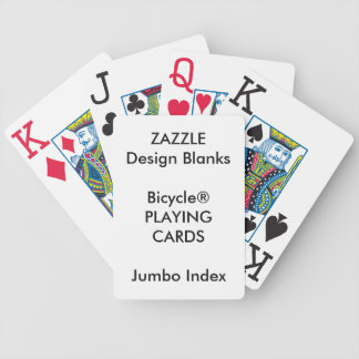 Personalised Bicycle® JUMBO INDEX Playing Cards