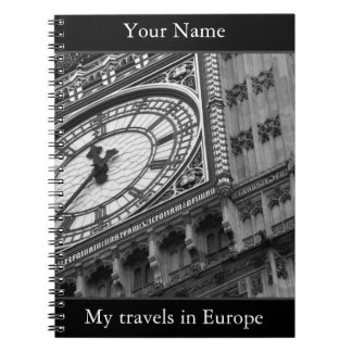Personalised, Big Ben travel journal Note Book