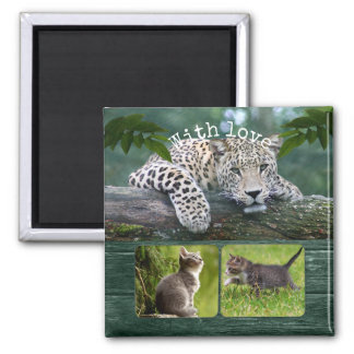Personalised Big Cat Your Animal Photos Magnet