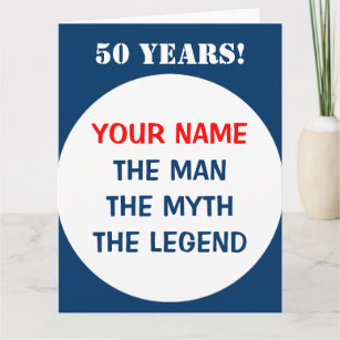 Personalised big oversized Birthday card for men