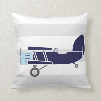 Personalised Birth Details Aeroplanes Pillow Cushion