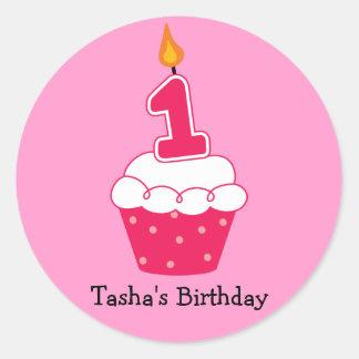Personalised Birthday Cupcake Stickers