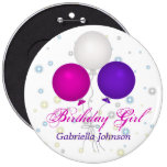 Personalised: Birthday Girl Button