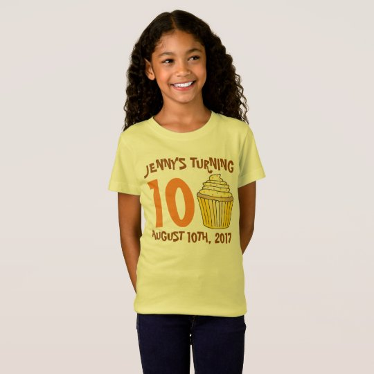Personalised Birthday Party Favour Cupcake Cake T-Shirt
