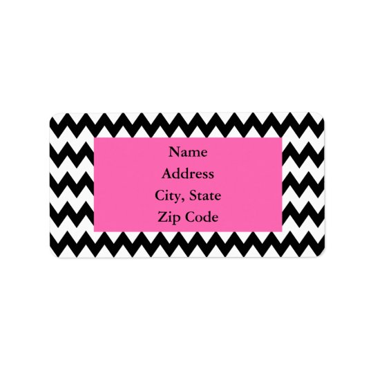 Personalised Black and White Zigzag Label