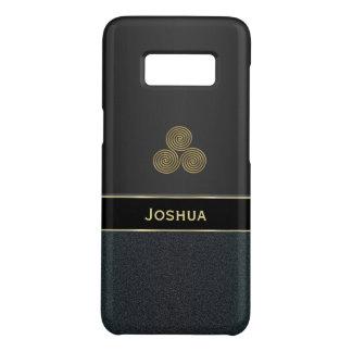 Personalised Black Celtic Triskele Galaxy S8 Case