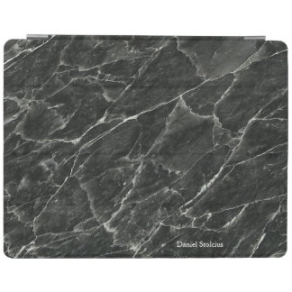 Personalised Black Marble iPad Cover