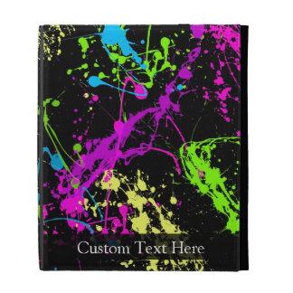 Personalised Black/Neon Splatter iPad Case