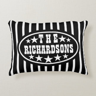 Personalised Black Vintage Carnival Decorative Cushion