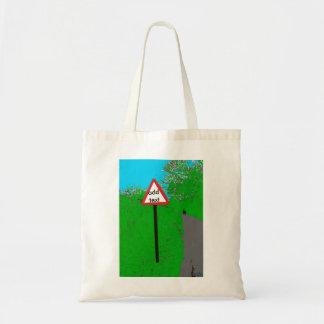 Personalised Blank Road Sign Bag