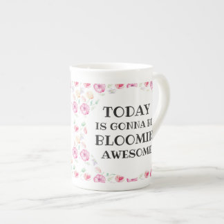 Personalised Bloomin' Awesome Floral Tea Cup
