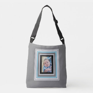 Personalised blue and black baby photo Tote Bag