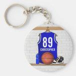 Personalised Blue Basketball Jersey