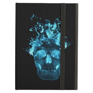 Personalised Blue Fire Skull iPad Case