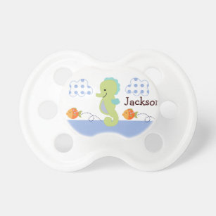 "Personalised ""Blue Lagoon Seahorse"" Pacifier"