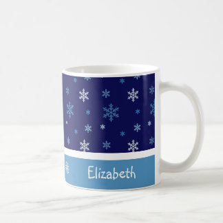 Personalised Blue Snowflake Mug