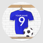 Personalised Blue White Football Soccer Jersey