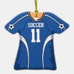 Personalised Blue/White Soccer Jersey 11 V1