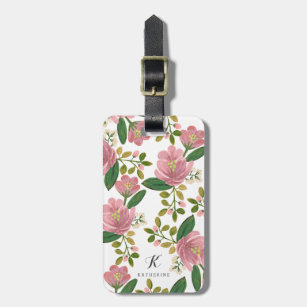 Personalised   Blush Bouquet Luggage Tag