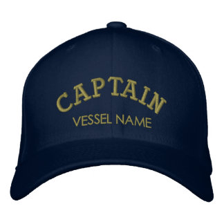 Personalised Boat Name Captain Hat Embroidered Hat