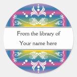 Personalised Bookplates - Colourful Flourishes