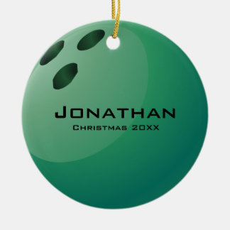 Personalised Bowling Ball Ornament