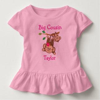 Personalised Boy, Girl Monkeys Big Cousin Toddler T-Shirt