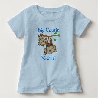 Personalised Boy Monkeys Big Cousin Baby Bodysuit
